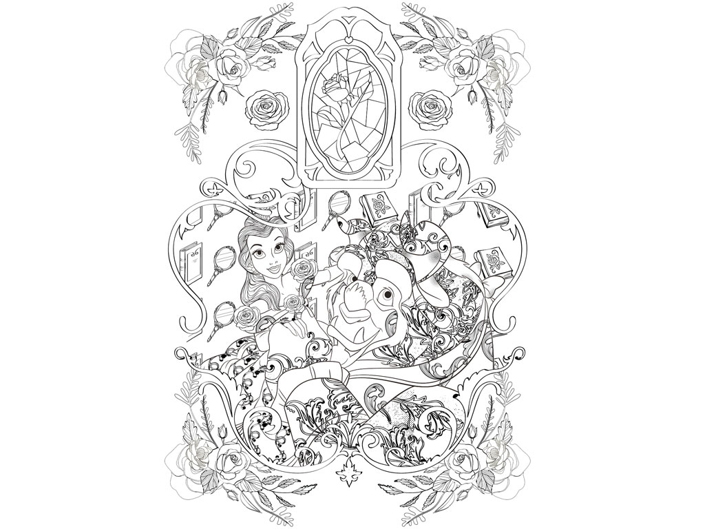 Cahier coloriage disney love story - Cahier de coloriage disney ...